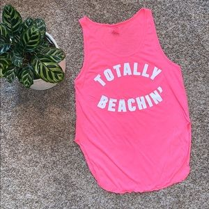 VS Pink Beach Tank Top (small)